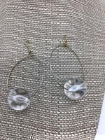 No Brand Gold & Clear Earrings